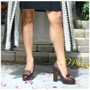 COACH brown Platform Pump shoes (5)